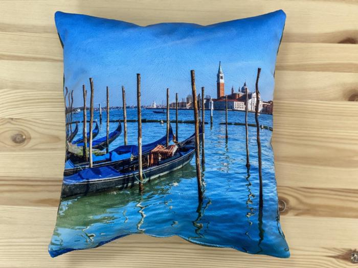 "Декоративная подушка ""Венеция синяя"""