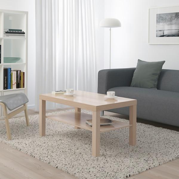 Журнальный столик ЛАКК 90х55 (беленный дуб)