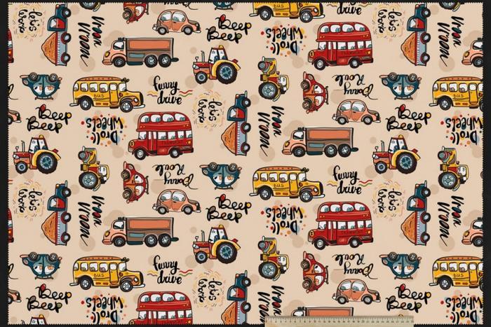 Ткань детской серии- Машинки
