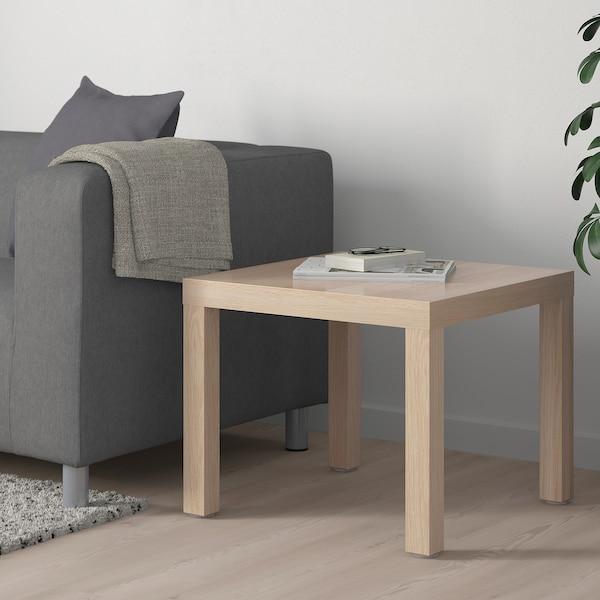 Придиванный столик ЛАКК 55х55 (беленный дуб)