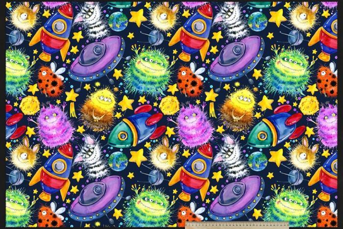 Ткань детской серии- НЛО